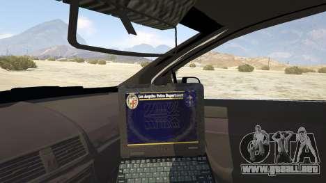 GTA 5 Unmarked Chevrolet Caprice vista lateral trasera derecha