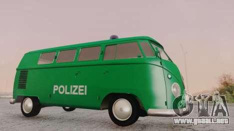 Volkswagen T1 Polizei para GTA San Andreas