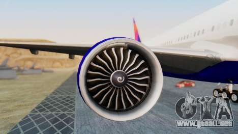 Boeing 777-200LR Delta Air Lines para GTA San Andreas left