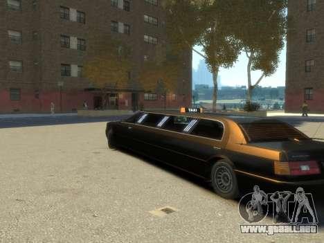Taxi STRECH para GTA 4 left