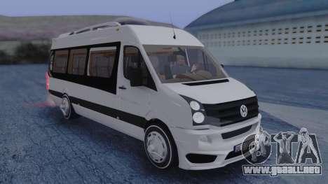 Volkswagen Crafter 2015 para la visión correcta GTA San Andreas