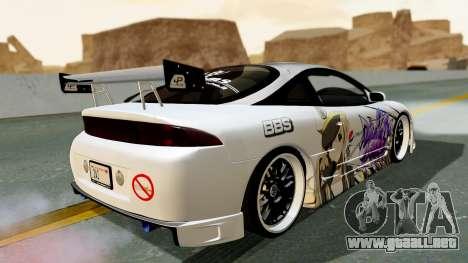 Mitsubishi Eclipse 1999 Mugi Itasha v2 para GTA San Andreas left