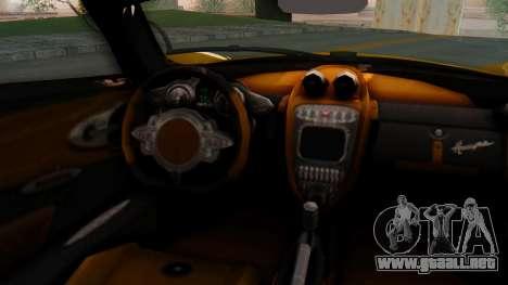Pagani Huayra LB Performance V.2 para GTA San Andreas vista posterior izquierda