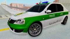 Dacia Logan Iranian Police Naja para GTA San Andreas