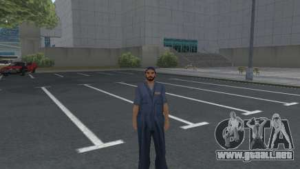 La piel del trabajador IZH de Reparación de automóviles para GTA San Andreas