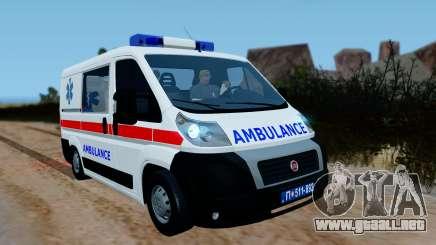Fiat Ducato Serbian Ambulance para GTA San Andreas