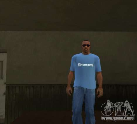T-Shirt De VKontakte para GTA San Andreas tercera pantalla