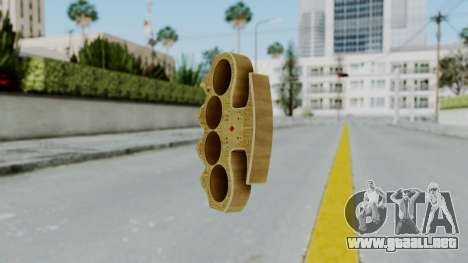 The Player Knuckle Dusters from Ill GG Part 2 para GTA San Andreas segunda pantalla