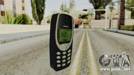 Nokia 3310 para GTA San Andreas segunda pantalla