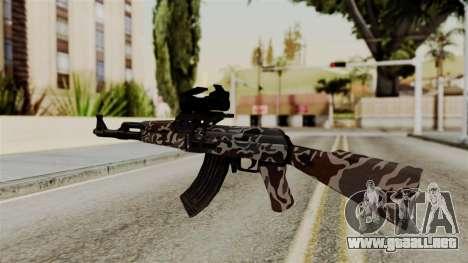 AK-47 F.C. Camo para GTA San Andreas segunda pantalla