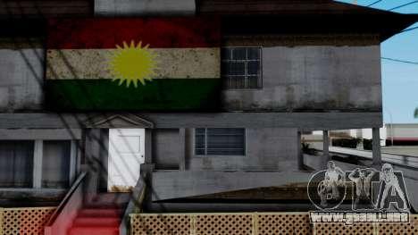 New CJ House with Kurdish Flag para GTA San Andreas tercera pantalla