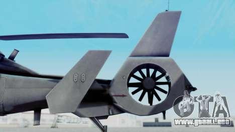 Harbin WZ-19 para GTA San Andreas vista posterior izquierda