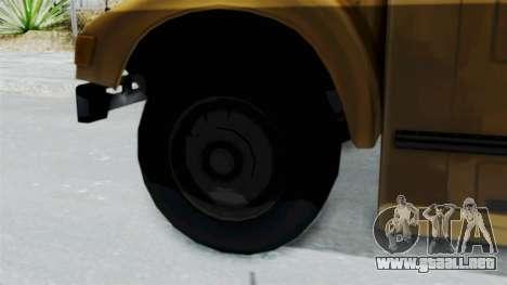 Bus from Life is Strange para GTA San Andreas vista posterior izquierda