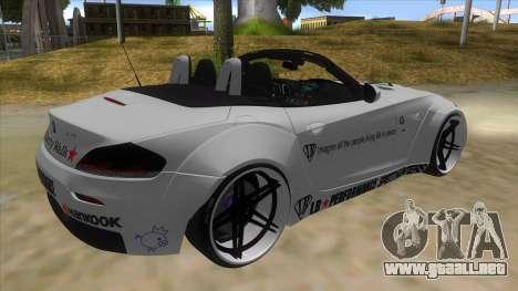 BMW Z4 Liberty Walk Performance Livery para la visión correcta GTA San Andreas