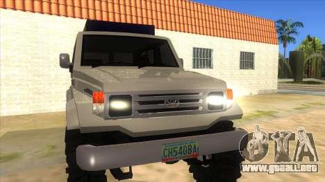 Toyota Machito 4X4 para GTA San Andreas vista hacia atrás