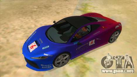 GTA 5 Progen T20 Lights version para la vista superior GTA San Andreas
