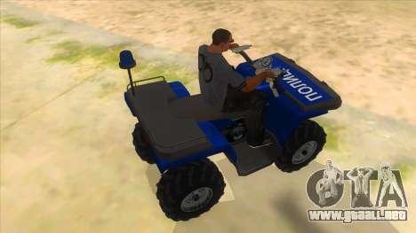 ATV Polaris Police para la visión correcta GTA San Andreas