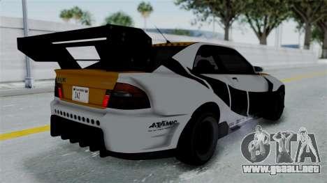 GTA 5 Karin Sultan RS Drift Big Spoiler PJ para vista lateral GTA San Andreas
