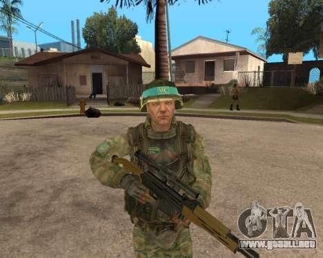 Ejército ruso Skin Pack para GTA San Andreas segunda pantalla