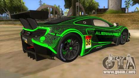 McLaren 650S GT3 Alien PJ para la visión correcta GTA San Andreas