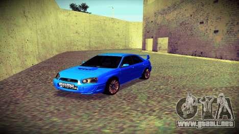Subaru Impreza WRX STi Civil para visión interna GTA San Andreas