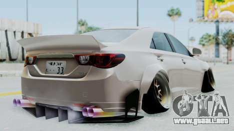 Toyota Mark X Slammed para GTA San Andreas left