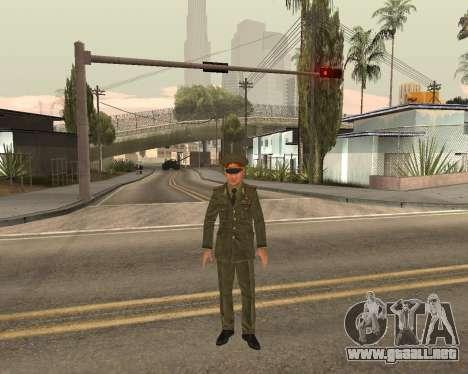 Ejército ruso Skin Pack para GTA San Andreas décimo de pantalla