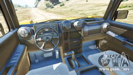 GTA 5 Hummer H2 6x6 v2.0 vista lateral trasera derecha
