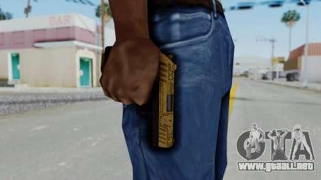 GTA 5 Online Lowriders DLC Combat Pistol para GTA San Andreas tercera pantalla