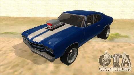 1970 Chevrolet Chevelle SS Drag para GTA San Andreas