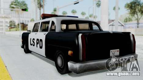 Police Cabbie para GTA San Andreas left