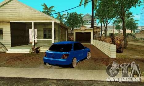 Subaru Impreza WRX STi Wagon 2003 para GTA San Andreas vista posterior izquierda