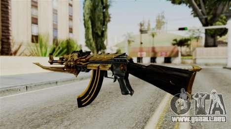 Dragon AK-47 para GTA San Andreas segunda pantalla