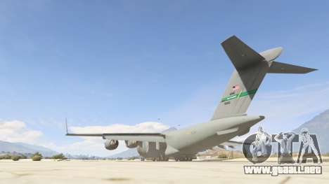 GTA 5 C-17A Globemaster III v.1.1 tercera captura de pantalla