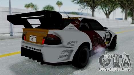 GTA 5 Karin Sultan RS Drift Big Spoiler PJ para vista inferior GTA San Andreas