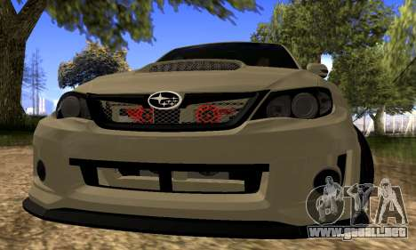 Subaru Impreza WRX STI 2008 LPcars v.1.0 para GTA San Andreas left