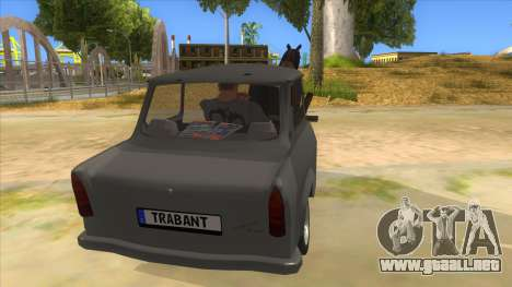 Trabant with Horse para visión interna GTA San Andreas