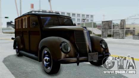 Lincoln Continental 1942 Mafia 2 v1 para visión interna GTA San Andreas