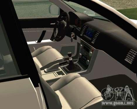 Subaru Legacy para visión interna GTA San Andreas