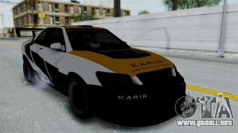 GTA 5 Karin Sultan RS Drift Big Spoiler PJ para visión interna GTA San Andreas