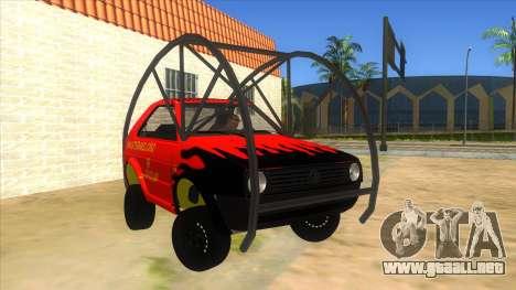 Volkswagen Golf MK2 RollGolf para GTA San Andreas vista hacia atrás