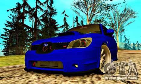 Subaru Impreza WRX STI Lisa para la vista superior GTA San Andreas