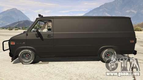 GTA 5 GMC Vandura (A-Team Van) vista lateral izquierda