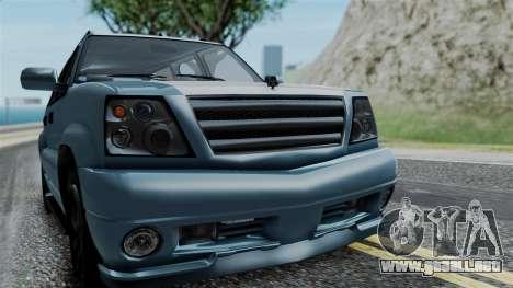 GTA 5 Albany Cavalcade v1 IVF para GTA San Andreas vista hacia atrás