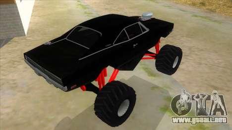 1969 Dodge Charger Monster Truck para la visión correcta GTA San Andreas