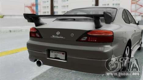 Nissan Silvia S15 Spec-R 2000 para vista lateral GTA San Andreas