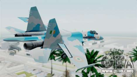 SU-37 Indian Air Force para GTA San Andreas left