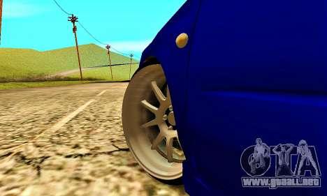 Subaru Impreza WRX STI Lisa para vista lateral GTA San Andreas
