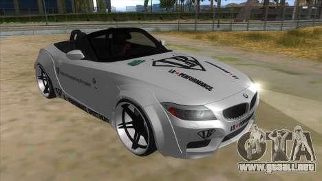 BMW Z4 Liberty Walk Performance Livery para GTA San Andreas vista hacia atrás