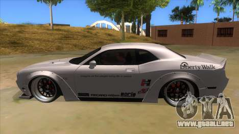 2012 DODGE CHALLENGER SRT8 Liberty Walk para GTA San Andreas left